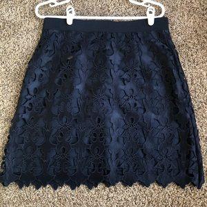 LOFT Blue Skirt
